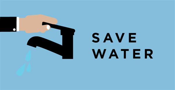 Graphic Town Water Supply - Save Water
