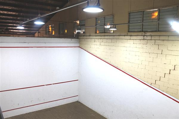 New lights squash courts - 8 June